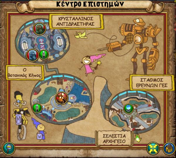Χάρτης Κέντρο Επιστημών