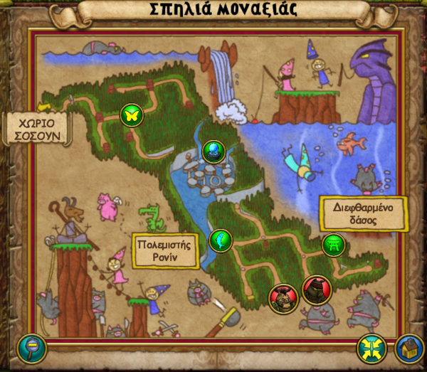 Χάρτης Σπηλιά της Μοναξιάς