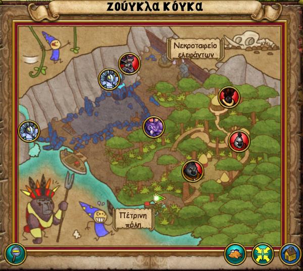 Χάρτης Ζούγκλα Κόγκα