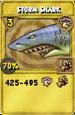 Storm Shark Treasure Card
