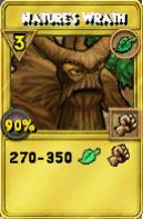 Nature's Wrath Treasure Card