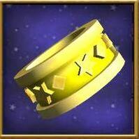 Flawed peridot ring