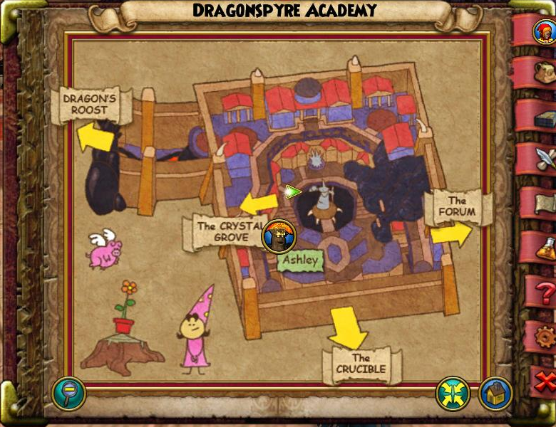 Dragonspyre Academy Map