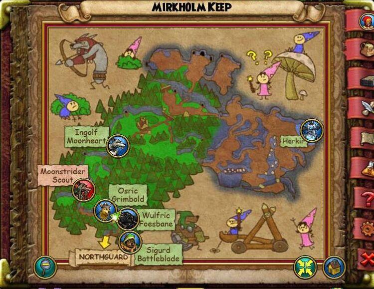 Map GH Mirkholm Keep