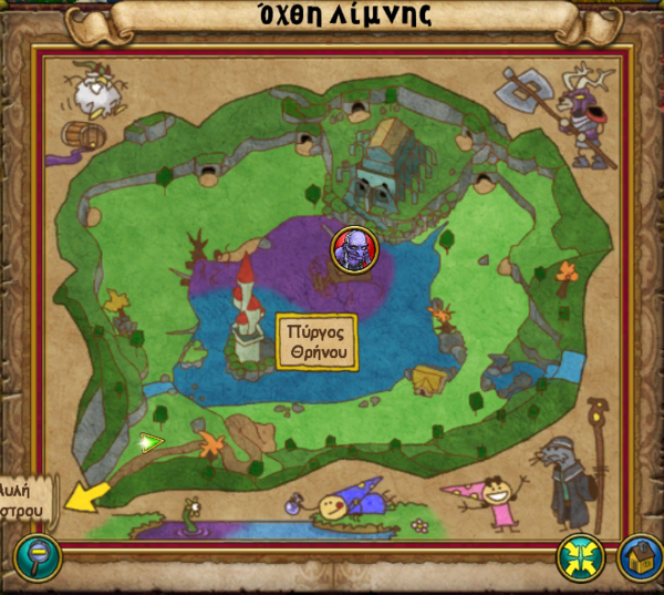 Χάρτης Όχθη Λίμνης
