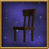 Blocked Wooden Chair