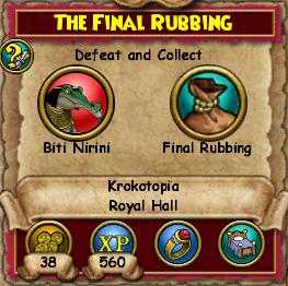 The Final Rubbing