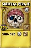 Skeletal Pirate Treasure Card