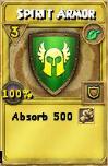 Spirit Armor Treasure Card