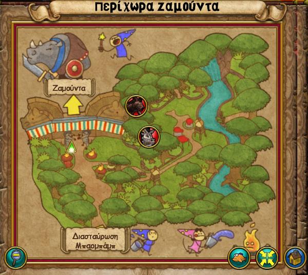 Χάρτης Περίχωρα Ζαμούντα