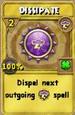 Dissipate Treasure Card