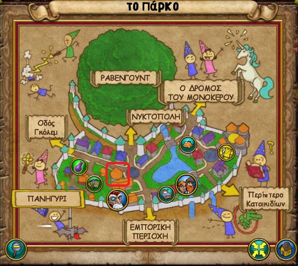 Χάρτης Πύργος Μερλ Αμβρόσιου