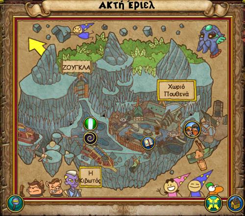 Χάρτης Ακτή Έριελ