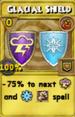 Glacial Shield Treasure Card