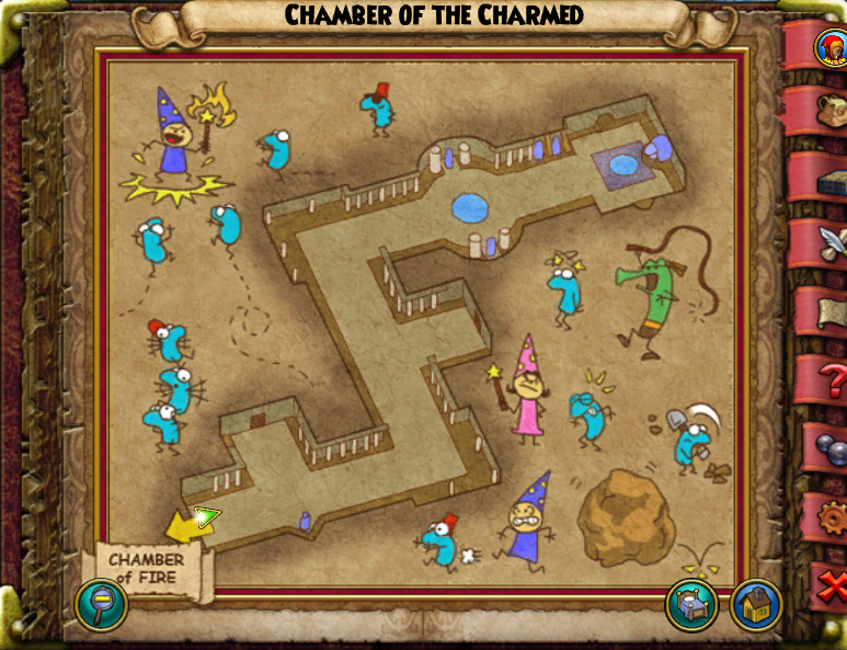 Chamber Of The Charmed Map