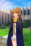 Amelia with the academy cloak