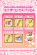 Love holiday 2018 daily login prizes
