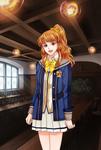Amelia with the academy uniform