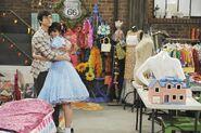 Justin and alex hug doll house