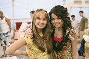 Debby ryan and selena gomez behind the scenes cast away to another show