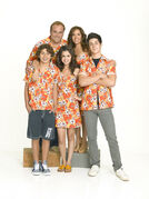 Russo's family with the same print for movie 2