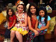 Jennifer and selena with kids behind the scenes alex vs. alex