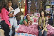 Maria, selena and david behind the scenes doll house