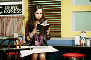 Selena behind the movie subway scene 2