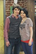 Selena and greg behind the scenes