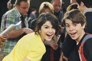 Selena and jake behind the scenes alex's logo