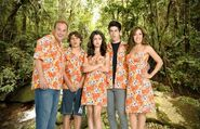 Russo's family with the same print for movie 3