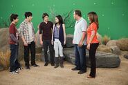 Jake, david h., gregg, selena, david d. and maria behind the scenes Wizards Exposed