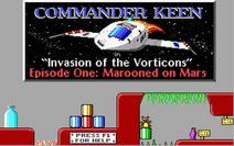 Commander Keen Marooned on Mars Title
