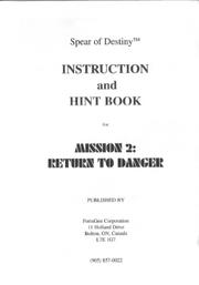 Return to Danger Instruction Booklet