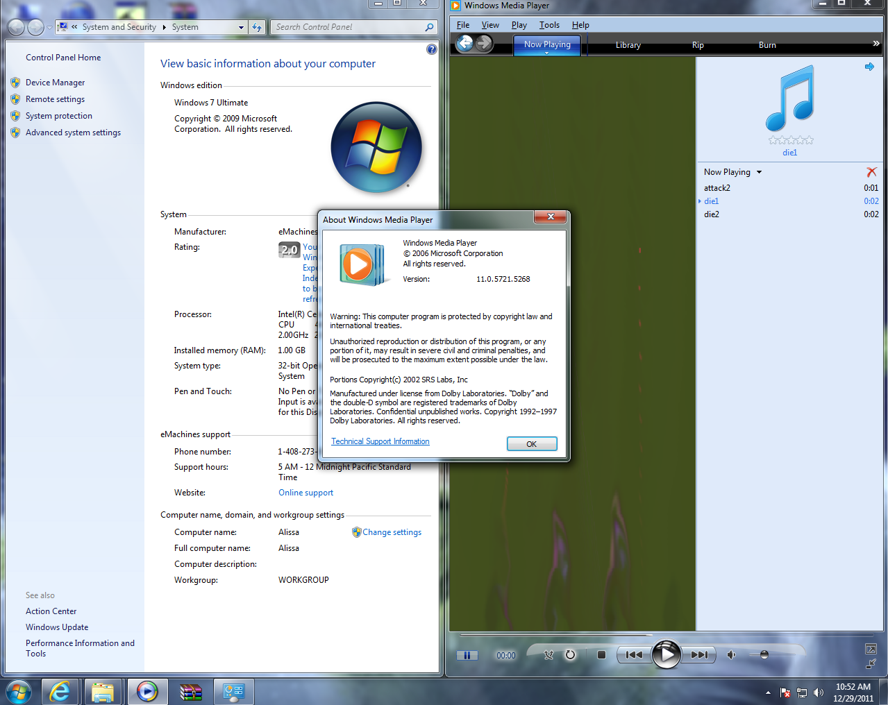 Windows media player does not play music cd in 2008 r2.