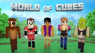 World of Cubes Cartoon Skin Pack Overview