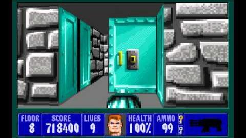 Wolfenstein 3D (id Software) (1992) Episode 3 - Die, Fuhrer, Die! - Floor 8 HD