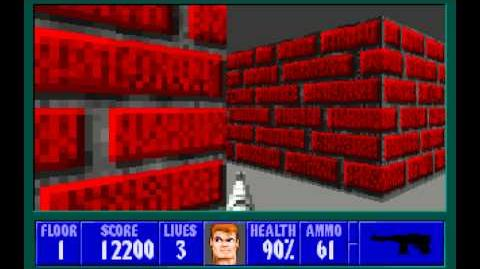 Wolfenstein 3D (id Software) (1992) Episode 4 - A Dark Secret - Floor 1 HD