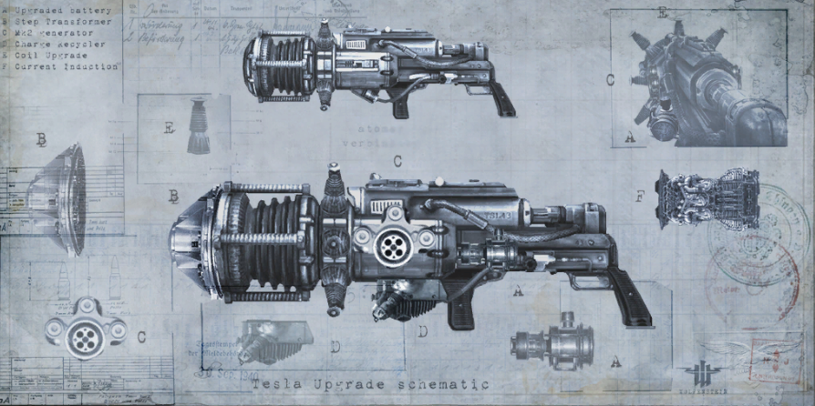 Tesla Gun (2009) | Wolfenstein Wiki | FANDOM powered by Wikia