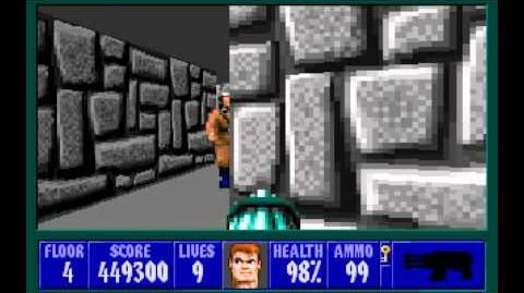Wolfenstein 3D (id Software) (1992) Episode 6 - Confrontation - Floor 4 HD