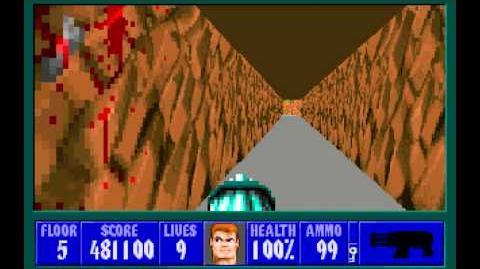 Wolfenstein 3D (id Software) (1992) Episode 4 - A Dark Secret - Floor 5 HD
