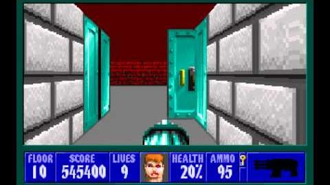 Wolfenstein 3D (id Software) (1992) Episode 5 - Trail of the Madman - Floor 10 HD