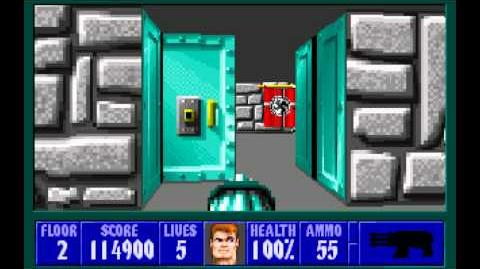 Wolfenstein 3D (id Software) (1992) Episode 5 - Trail of the Madman - Floor 2 HD