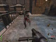 BJ matando a un soldado