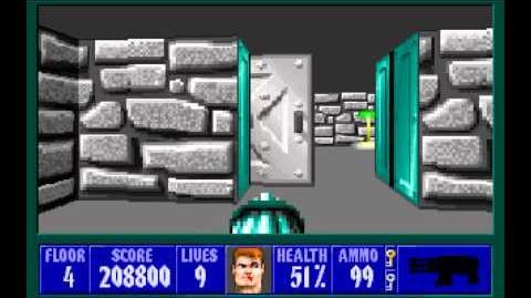 Wolfenstein 3D (id Software) (1992) Episode 3 - Die, Fuhrer, Die! - Floor 4 HD