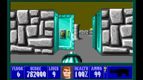 Wolfenstein 3D (id Software) (1992) Episode 2 - Operation Eisenfaust - Floor 6 HD