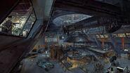 ROW Wolfenstein II Area 52 hangar interior