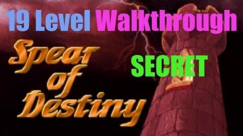 Wolfenstein 3D Spear of Destiny - 19 Secret Floor Walkthrough I am Death incarnate!-0