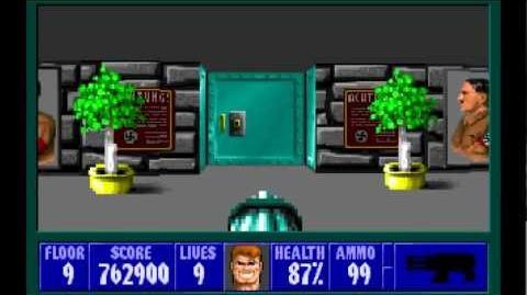Wolfenstein 3D (id Software) (1992) Episode 3 - Die, Fuhrer, Die! - Floor 9 HD