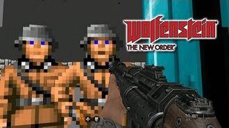 Wolfenstein 3D in Wolfenstein The New Order - Gameplay